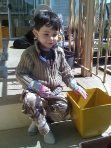 Kids Building Gardens