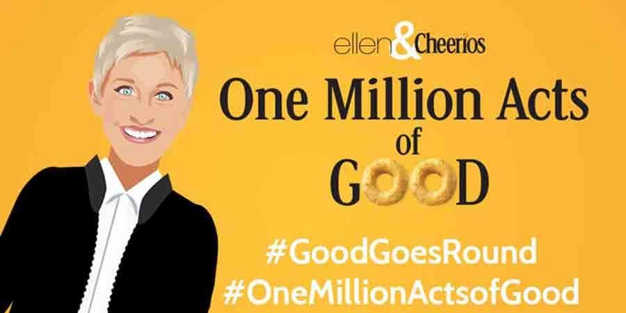 great giving stories from Ellen DeGeneres